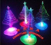 Wholesale Hot sale The LED Christmas tree Christmas gift fiber optic light Christmas hat activity