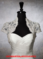 Lace Jacket  beaded ivory Beaded Appliques Lace Bridal Accessories & Jackets with short sleeves A023