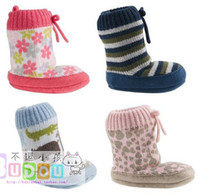 Wholesale Crochet Baby Booties Shoes Socks Newborn infant Snow Boots Lepoard Animal Baby Boots shoes M