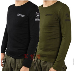Wholesale Men s black hawk titanium tight t shirts long sleeve
