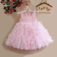 Baby girl kids princess dress one- piece petti tulle jumper j...