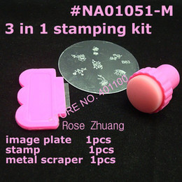 Wholesale Freeshipping DIY Nail Art Stamping Set Stamping Nail Art Kit Nail Stamps Scrapers Image Plate Whol