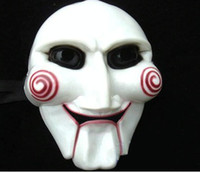 Wholesale 10pcs Hot Plastic Halloween Masks Horrific Masks Scary SAW Masks Masquerade Masks Party Masks