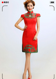 Wholesale 2012 the new Chinese style restoring ancient ways MIDI short fashion cheongsam ballgown actual image