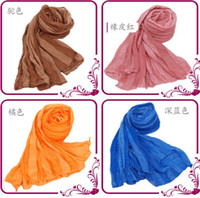 Wholesale Hot Sale the European fashion scarf Autumn Winter Scarf cute candy wrinkle scarf shawl Orange