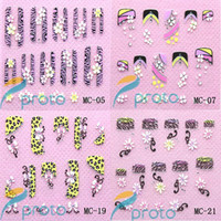 Wholesale Retail mixed D Japanese Style Nail Art Sticker Decal Flowers Nail Stickers Nail Art Decoration