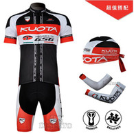 Wholesale Cycling Jersey KUOTA team kit hat and Cuff short sleeves cycling clothes suit set Bike Shorts fsfsd26