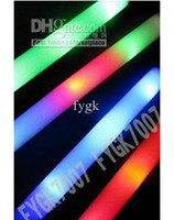 glow light sticks - Whole sale led foam stick flashing foam stick light cheering glow foam stick EMS
