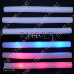 EMS free shiping 250 lot led foam stick light up cheering glow foam Concert supplies glow stick led stick
