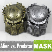 Wholesale Alien vs Predator Mask Film Mask Golden Color amp Silver Color EB873