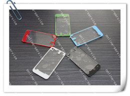 High Glossy Clear TRANSPARENT Glass Back Cover Housing Case Replacement For iPhone 4 4G