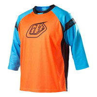 Shirts & Tops Quick Dry 100% Polyester 12 New Troy Lee Designs TLD Cycling 3 4 Jersy Motorcycle Motorcross Jersey Orange&Blue