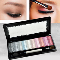 cosmetic glitter - Eyeshadow Glitter Pro Makeup Cosmetics Palette Pigment Set New COLORs Baked Agood