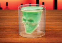Wholesale skull cups crystal skull cup bunk skull cup round shaped colorless transparent glass cup bottle