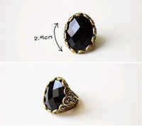 Cheap Women's carving black Best Alloy Band Rings ring black