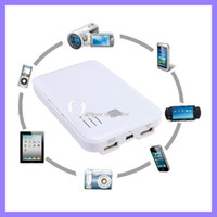 Wholesale 5000mAh power bank portable battery station for iphone ipad samsung HTC for digital device