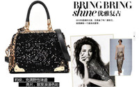 Wholesale 2012 latest style sequined handbags shoulder bag pu bag square bag handbag
