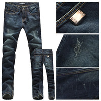 Wholesale man designer brand straight leg washed denim fit men s jeans jean