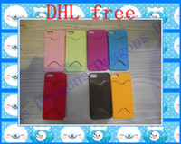 Plastic For Apple iPhone AAA iphone 5 5G frosted hard plastic credit bus card colorful case cover for iphone 5 5G battery 500pcs
