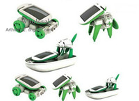 Wholesale Newest Arrival DIY Solar Robot Kit in Educational Toy Boat Fan Car Power Moving Dog
