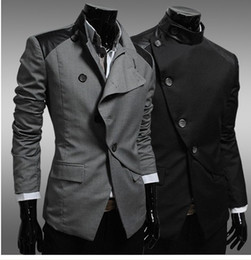 Wholesale Men s clothing qiu dong new cortex adornment fashion coat LiLing irregular personality suit EZ