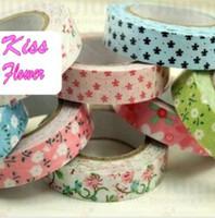 Wholesale New quality flower series washi mashing tape Printing adhesive tape