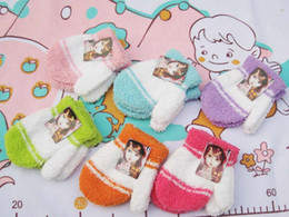 Wholesale Cute Gloves for children kids gloves winter Toweling Thick Warm Kids mittens Y Gloves pairs