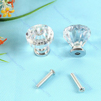 Wholesale 20pcs Clear Crystal Knob Cabinet Pull Handle Drawer Kitchen Door Wardrobe Hardware