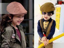 Wholesale Fashion Flat Caps Boys Flat Hat Ball Cap Children Irish Cap Kids Sun Hat Boy Brim Hat
