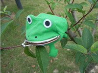 Wholesale 10ps Promotion gift Cosplay new frog plush wallet purse Anime Naruto Cute Greem Frog Coins Pocket