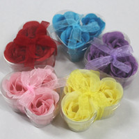 Wholesale Christmas soap flower soaps wedding soap rose soaps hand made natural material a0092