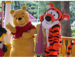 Wholesale Winnie The Pooh Bear Crtoon Mascot Costume Fancy Dress Free Shippin