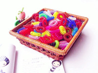 Wholesale Trendy Hair rings Cute Candy Color Phone Rope Pattern Hair Ropes Hot selling