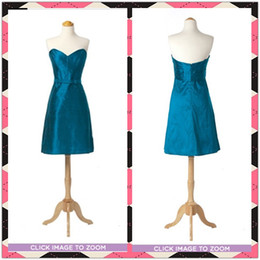 Wholesale Actual Image Simple Sash Ruffles Sweetheart Sizes Available Bridesmaid DressParty Homecoming Dresses