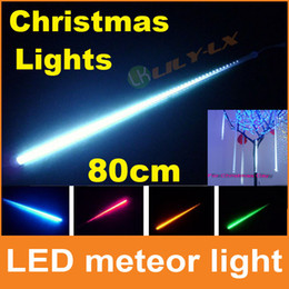 hot LED christmas decoration Lights 80cm led meteor shower light with driver 10pcs set waterproof