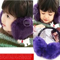 Wholesale Cony hair Winter Ear Muffs For Winter Boys Girls Earmuffs Ear Muffs Kids Ear Muffs Rabbit Hair