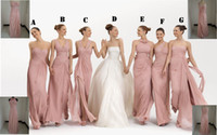 Wholesale 2012 Mix Order New Sexy Strapless Pink Chiffon Babyonline Evening Dresses Bridesmaid Dresses VB15