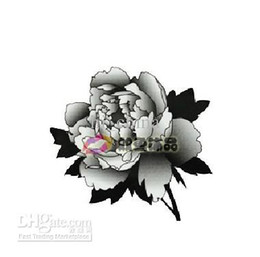Wholesale Waterproof DIY tattoo body coloured drawing or pattern of female money black roses stickers
