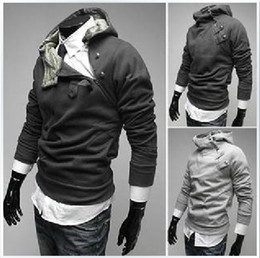 Wholesale Fashion Korea High Collar Men s Hoodies Clothes men s Outwear Clothing
