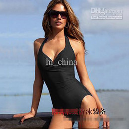 Wholesale Siamese style sexy swimwear without a skirt beachwear colors Magic suit bikini beach dress swimsuit