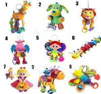 Wholesale 3pcs mixed type baby Lamaze Toys Early Development Infant Plush toy educational toy Teether Bed bell