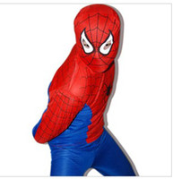 Wholesale HOT SALE Love the novelty Halloween costumes masquerade Spiderman tights suit