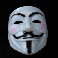 Wholesale EMS FREE V Mask Vendetta Party Mask Halloween Mask Party Face Mask Halloween Mask Super Scary