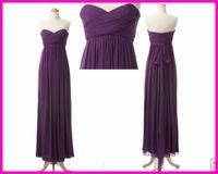 Actual Images dresses for pregnant women long dress - Purple Maternity Empire Waist Floor Length Plus Size Bridesmaid Dresses for Pregnant Women Strapless Chiffon B510