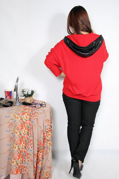 Wholesale - Women's Plus Size Long Sleeve Pullover Hoodies with Pocket Chain Casual Sweatshirts d5262