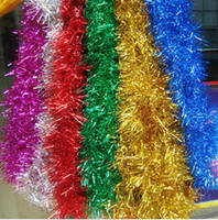 Wholesale EMS Strings M NEW CHRISTMAS GARLAND Tinsel colors Color bar garlands