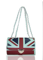 Fashion Handbags Shoulder Bag Clutch Bags PU British Flag 20...