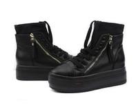 Wholesale 2012 Platform shoes women s shoes high platform single shoes elevator casual ankle boots