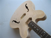 Wholesale New Arrival style PROJECT Unfinished electric guitar body for gibson ES335 amp neck for DIYer