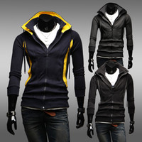 Wholesale Men s Fashion cardigan hoodie hooded casual sweaters M L XL XXL